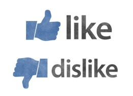 Thumbs up like icon and thumbs down dislike icon